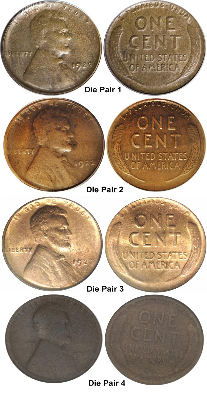 1922 Weak D And No D Lincoln Cent Varieties