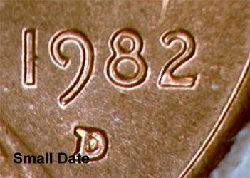 1982 p d large and small dates for Create your own penny